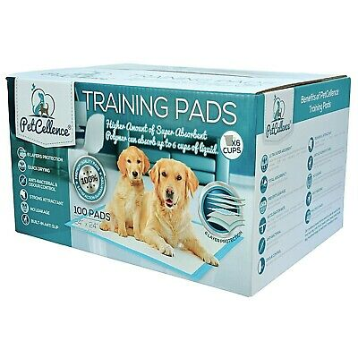 100 Potty Puppy Training Dog Pads Puppies Pet Pee Wee Mats Cat Train 60 x 60cm