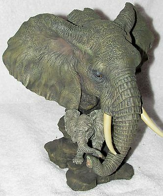 Westland Giftware Resin Elephant and Calf Statue #5662  Buy It Now