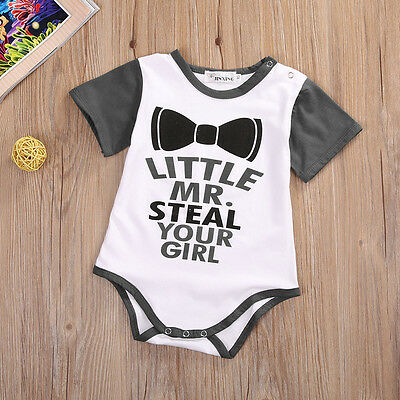 US Cotton Newborn Infant Baby Girls Boys Romper Bodysuit Jumpsuit Clothes Outfit