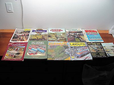 Lot of 11 Model Railroad How to Books DCC Scenery Details, Kalmbach Atlas Etc