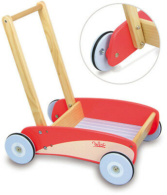 Red Push Pull Trolley By Vilac