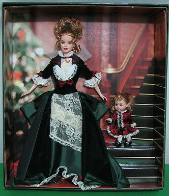 "Barbie And Kelly ""victorian Holiday"" Doll 2000 Christmas Mattel 28395 New In Box"