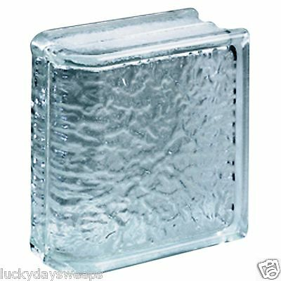 Lot of (4) Endblock Icescapes Premiere Glass Block Bullnose End 8x8x4 Walls NEW