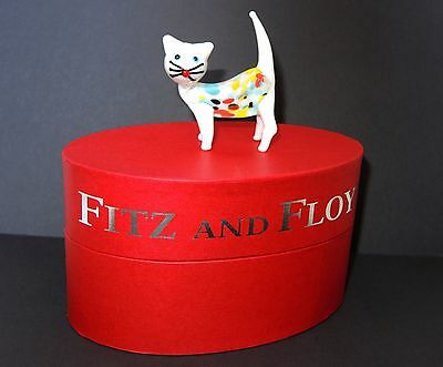 Fitz & Floyd Glass Menagerie White Cat Sibyl Figurine Limited Edition New in Box
