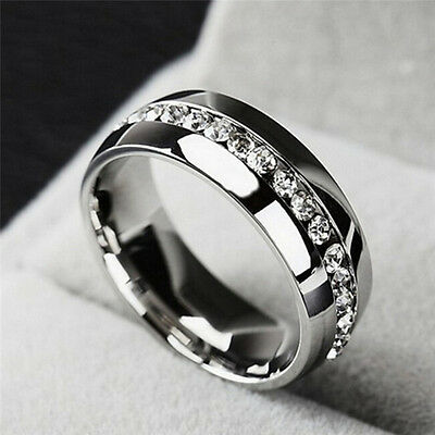 Diamond Ring High Quality Stainless Steel For Men & Women Fashion Couple Ring NG