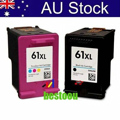 2x Ink Cartridges for HP 61 XL Envy 4500 4504 5530 Officejet 2620 4630 printer U