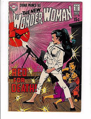 """WONDER WOMAN #189 (VG+) Diana Prince! """"Red for Death!"""" Early Bronze-Age DC 1970"""