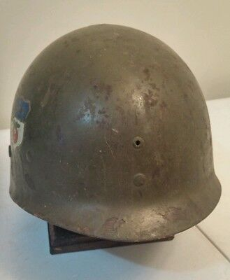 WW2 27th Armored Division M1 Helmet Liner