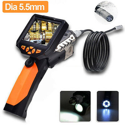 "5.5mm Inspection Camera 3.5"" LCD Monitor Endoscope Borescope Scope 1m Tube DVR"