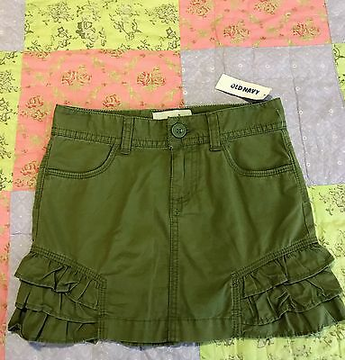 Girls Old Navy Brand Khaki Cotton Skirt Size 5-6 Brand new with tags