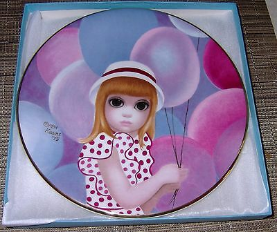 1976 The Balloon Girl First Limited Edition Plate By Margaret Keane Excellent