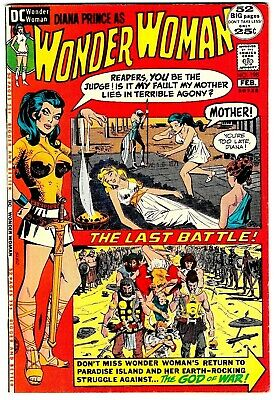 WONDER WOMAN #198 (VF+) Big 52 Pages DC Classic Bronze-Age High Grade Issue 1972