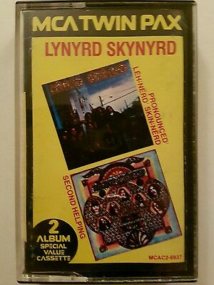Lynyrd Skynyrd MCA Twin Pax cassette 1983, Pronounced, and Second Helping - Used