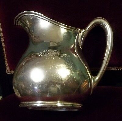 EASTERN STEAMSHIP LINE Large Silver-Plated ICE-WATER PITCHER