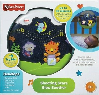 fisher price shooting stars glow soother crib nightlight