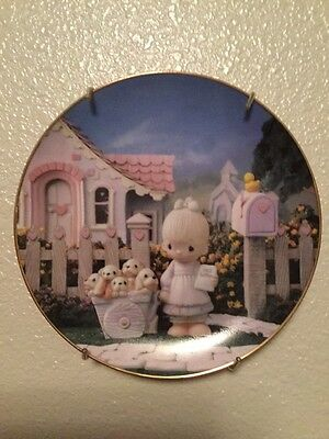 """Collectable Precious Moments Plate """"God Loveth A Cheerful Giver"""" #1932JJ"""