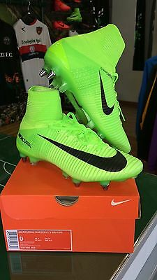 Chaussures Nike Football Mercurial Superfly V Sg-Pro Chaussette 2017 Vert Acc