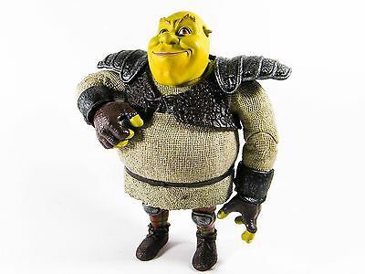 Large Shrek Action Figure Toy In Armour Happy (15Cm Tall) Articulated