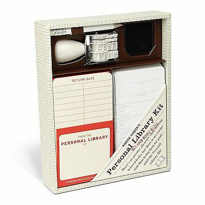 Knock Knock Personal Library Kit 20 self-adhesive pockets Even better looking