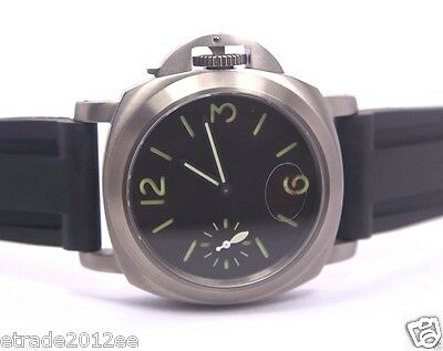 460 Parnis Military Sterile Green Sandwich Dial Titanium Case Sapphire Watch