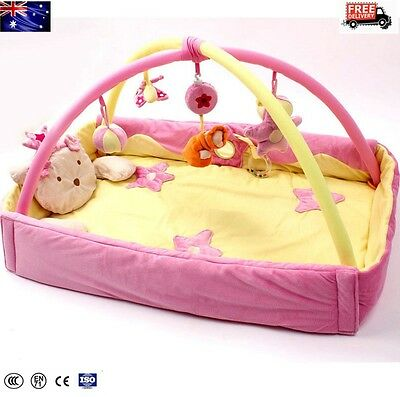 2 IN1 Newborn Baby Play Mat Bed Activity Symphony Motion Gym Flower Musical New