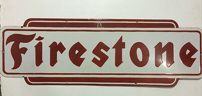Vintage Firestone Tires Non Gas & Oil Porcelain Enamel Sign.