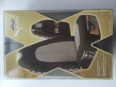 X-Line Universal Bucket Seat Cover-Black/Grey New