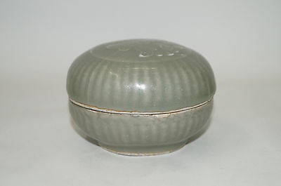 Rare Song dynasty longquan celadon large cover / cosmetic box