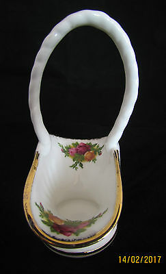 Vintage English Royal Albert Old Country Roses - 1st Quality - Basket