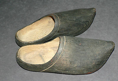 Antique Dutch Clogs. Authentic Pair! Solid Wood. Size:12 inches