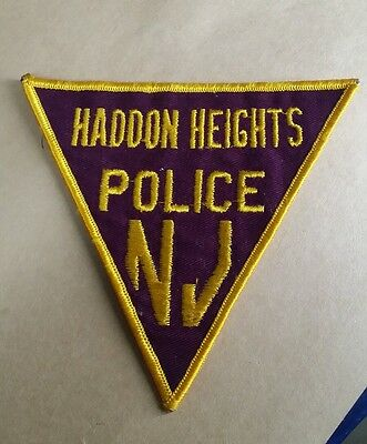 Haddon Heights, New Jersey Police Shoulder Patch Nj