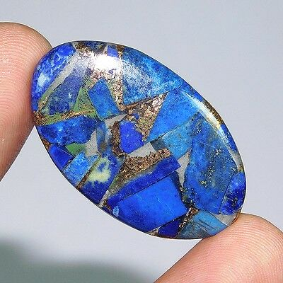 26.55Cts 100% NATURAL A++ COPPER LAPIS OVAL 38X24 LOOSE CAB GEMSTONE PN045