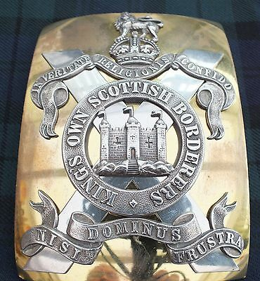 A (KC) King's Own Scottish Borderers. Officers Cross Belt Plate.