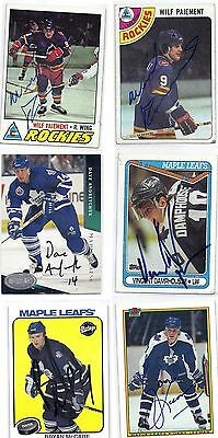 1990 Topps #121 Vincent Damphousse Toronto Maple Leafs Signed Autographed Card