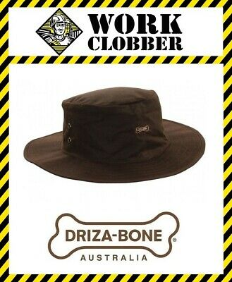 Driza-Bone (Drizabone) Traditional Oilskin Slouch Hat Brown NEW WITH TAGS!
