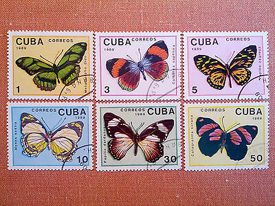 1989 Butterfly Set of 6 Stamps