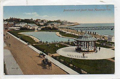 """""""""""postcard Bandstand And Yacht Pond,felixstowe,suffolk"""""""""""