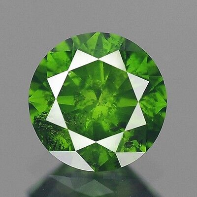 0.42ct 4.7mm Rare Natural Diamond Round Fancy Green Loose Diamonds Free Ship