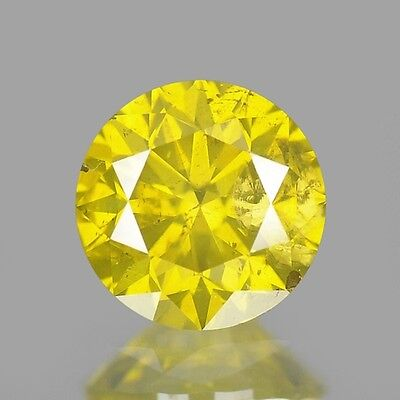 0.32ct 4.2mm Rare Natural Diamond Round Fancy Yellow Loose Diamonds Free Ship