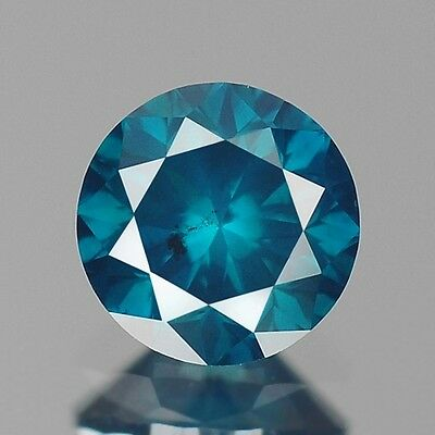 0.41ct 4.5mm Rare Natural Diamond Round Fancy Blue Loose Diamonds Free Ship
