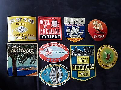 Lot Etiquettes De Bagages Nice Cannes Nates Tryes... Luggage Labels French