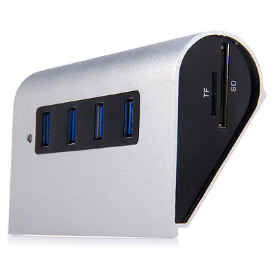 5Gbps 4 Ports USB 3.0 Hub + TF/SD Card Reader USB- Concentrator For PC C3V8