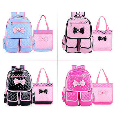 Stylish New Children Girls Backpack Handbag Travel Rucksack Kid School Book Bags