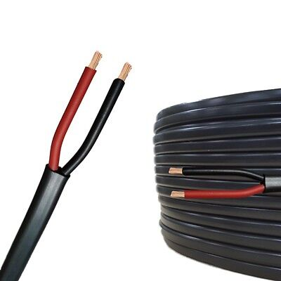 AUPROTEC 5m-50m automotive 2 x 1.0 mm² electrical auto Twin Core flat cable