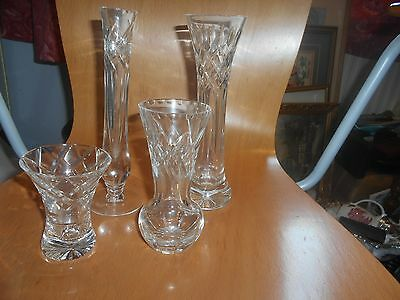 4 pieces of Royal Brierley crystal, cut glass