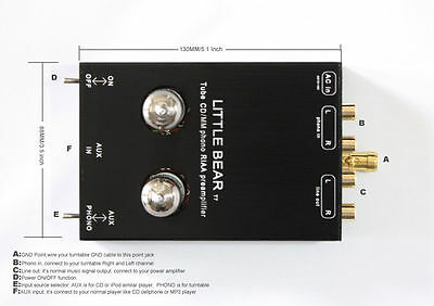 Little bear T7 tube valve Phono RIAA MM Turntable RIAA Preamp preamplifier AUX