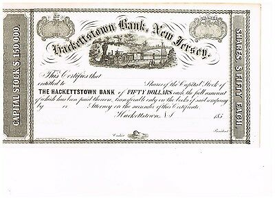 Hackerstown Bank, New Jersey, 185x, unissued, deco