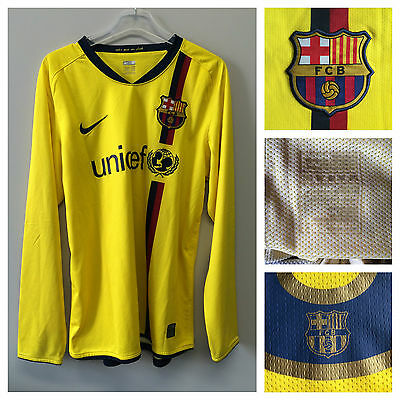 2009/10  Barcelona player issue l/s away shirt