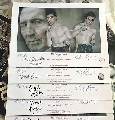 KRAY Print Hand signed Frankie Fraser  A4  Limited Edition Of Only 295 One Left