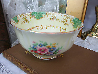 1930's CROWN STAFFORDSHIRE ENGLISH CHINA SUGAR BOWL
